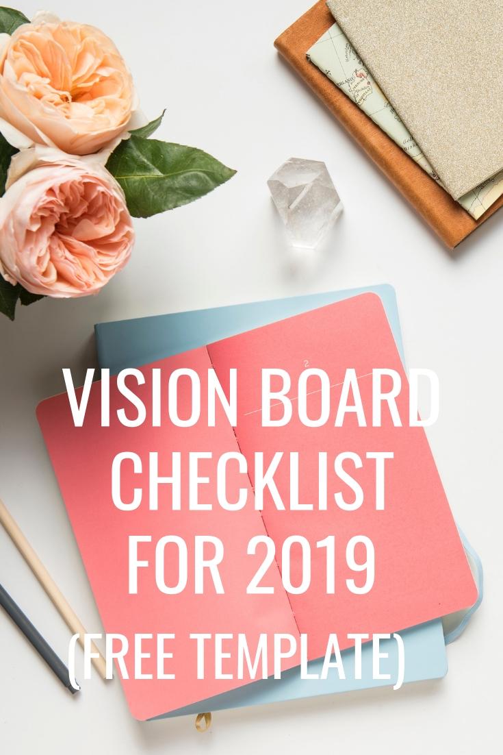 Vision Board Checklist for 2019